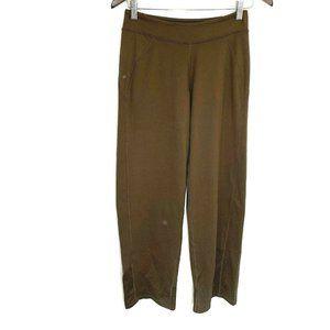 brooks brown pull on yoga pants lounge activewear